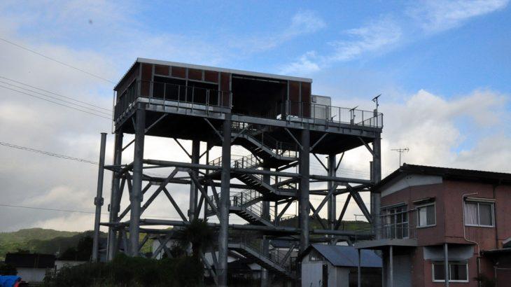 高知県黒潮町の津波避難タワー